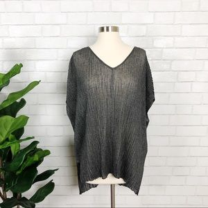 Eileen Fisher Pressed Viscose Crinkle Tunic Size S